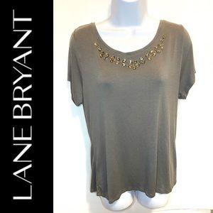 Lane Bryant Jeweled T-Shirt Size 14/16